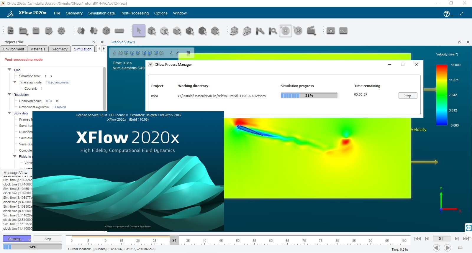 Working with DS Simulia XFlow 2020x full license