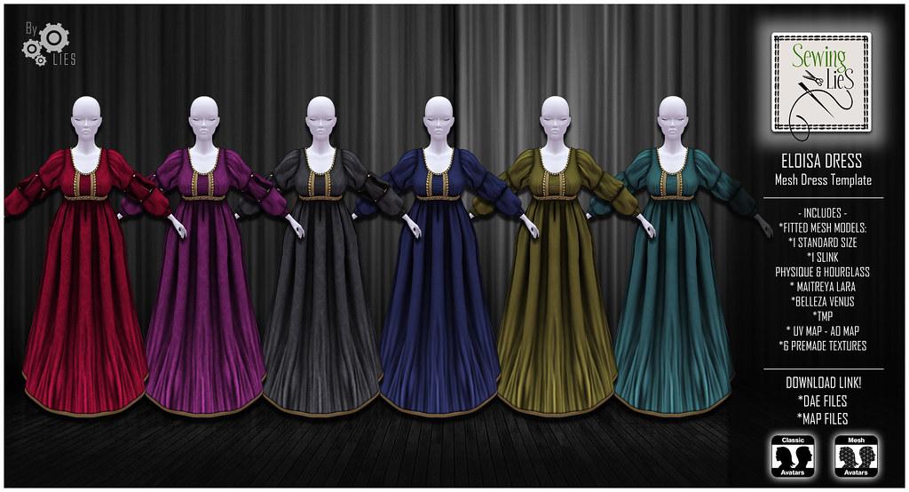 Eloisa Mesh Dress Template – SewingLies