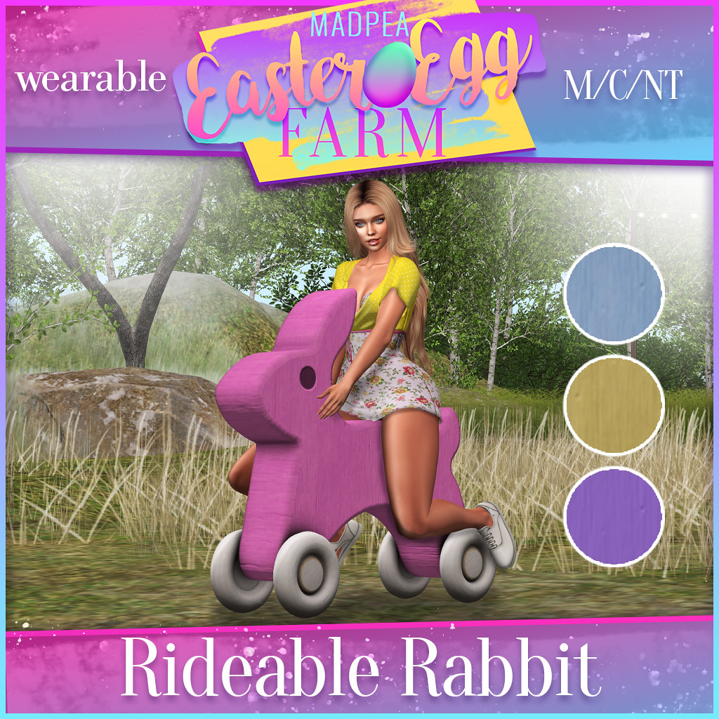 MadPea Easter Egg Farm Prizes: Rideable Rabbit!