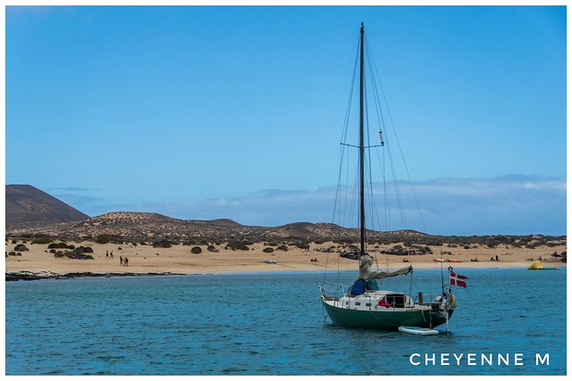 Lors d'une ballade en catamaran à Lanzarote 😀