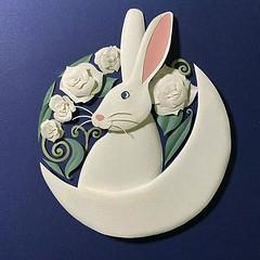 Luna Paper Sculpture Rabbit