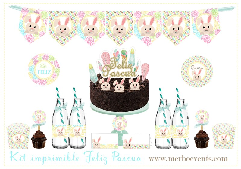 Kit imprmible decora tu pascua Merbo Events