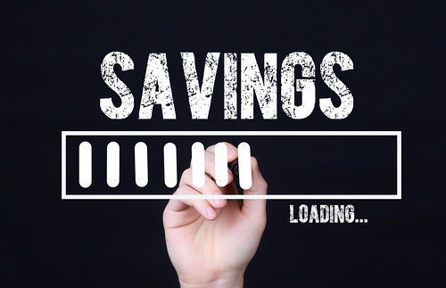 Handwriting Text Savings Loading. Concept meaning  Forecasting the future event | by focusonmore.com
