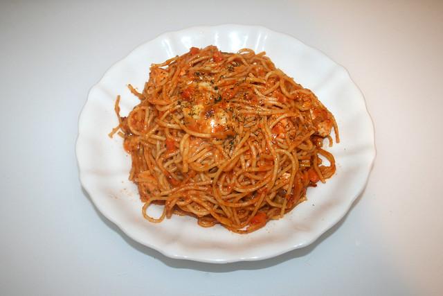 Salmon leek spahetti - Leftovers I / Lachs-Lauch-Spaghetti  - Reste I