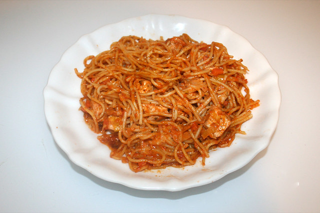 Salmon leek spahetti - Leftovers II / Lachs-Lauch-Spaghetti  - Reste II