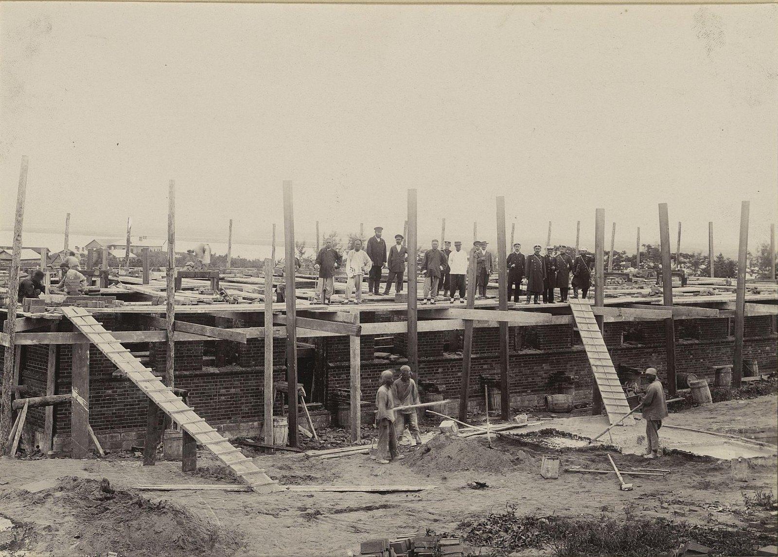 Строительство здания мастерских