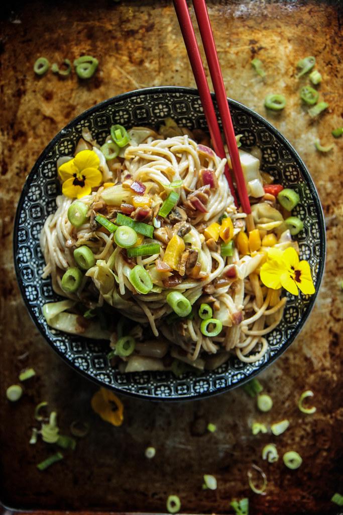 Vegan Dan Dan Noodles from HeatherChristo.com