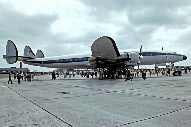 54-0157   Lockheed C-121C Super Constellation [4176] (United States Air Force) RAF Greenham Common~G 07/07/1974