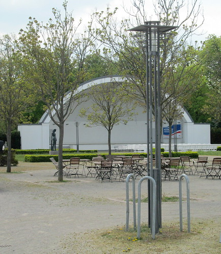 Lamp Standard and Bandstand to rear of Kurhaus, Warnemünde