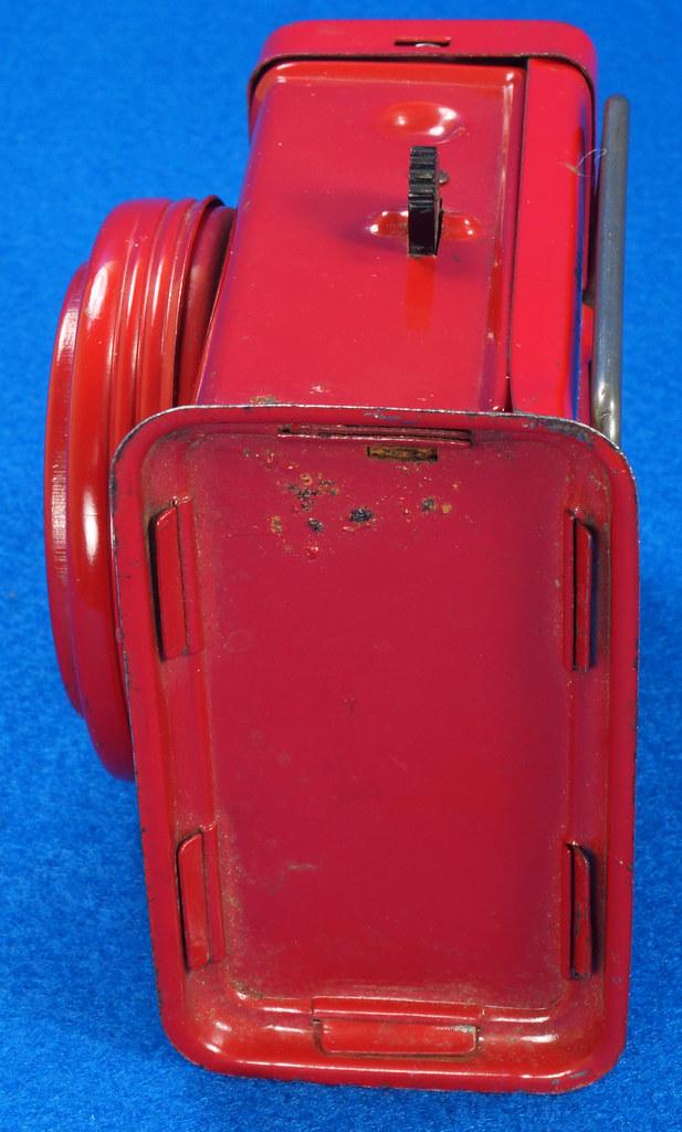 RD28417 Vintage 1933 Niagara 2 Cell Red Trail Blazer Mini Lantern Horse Rider Decal DSC02395
