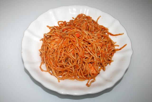 Salmon leek spahetti - Leftovers III / Lachs-Lauch-Spaghetti  - Reste III