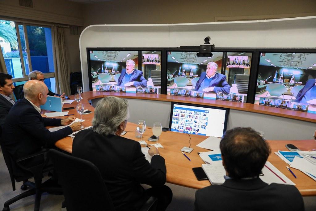 2020-04-07 PRENSA Videoconferencia de Uñac on el presidente Fernández y gobernador (2)