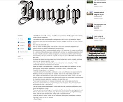 Bunyip Newspaper Closure