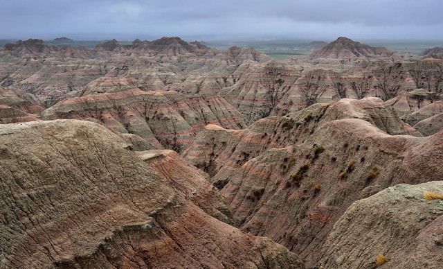 Badlands and Their Formations at White River Valley Overlook (Badlands National Park)