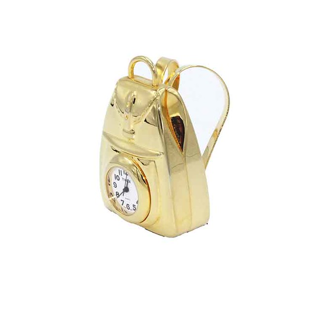 Timex Collectible Backpack Brass Mini-Clock
