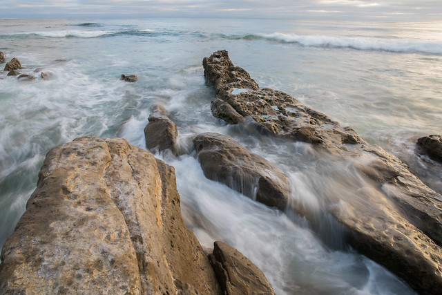 Windansea: Rocks and waves