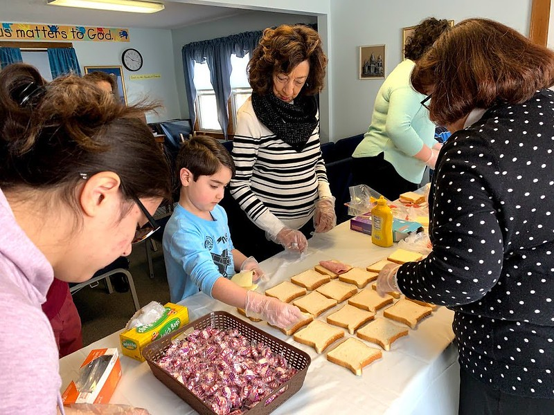 Sunday School Sandwiches for South Park Inn Shelter