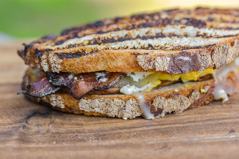 Grilled Potato and Bacon Breakfast Paninis