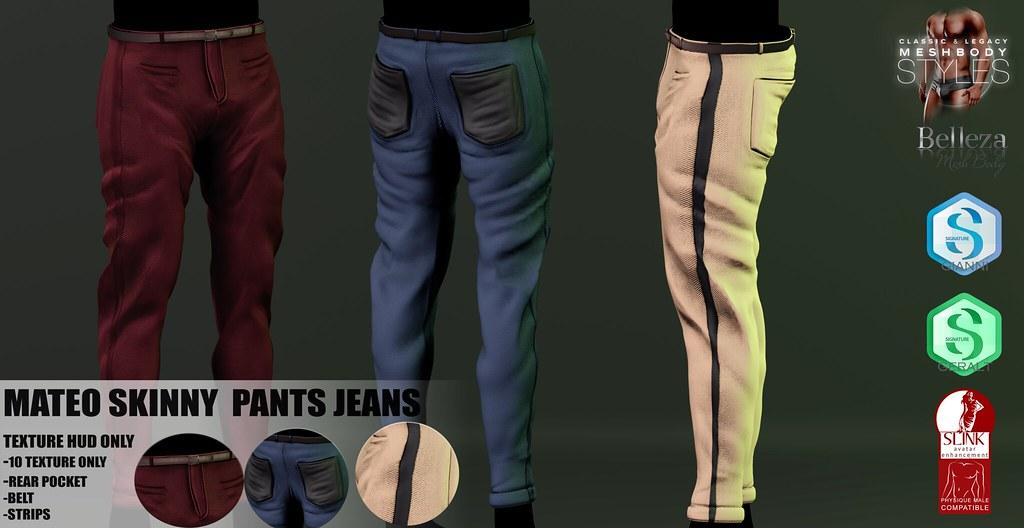 NEW!! SKINNY PANTS CLASICC MATEO