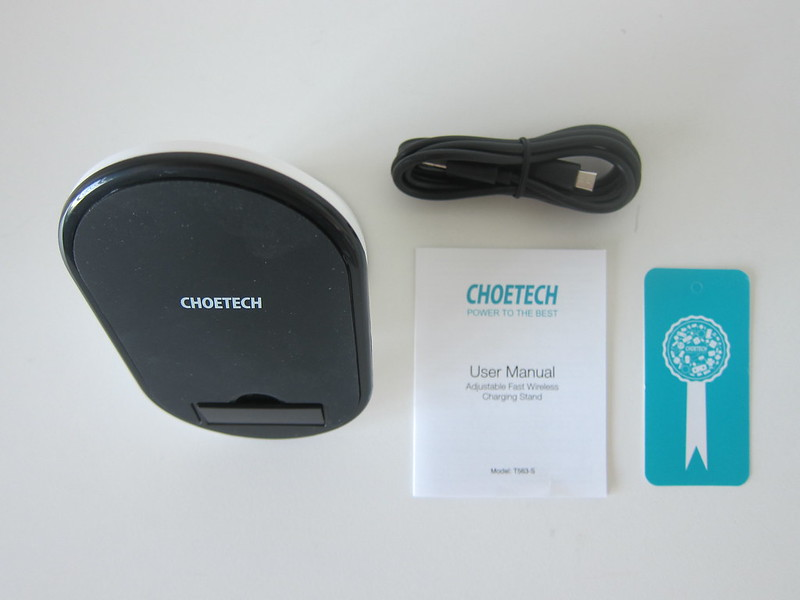 Choetech Adjustable Wireless Charger Stand - Box Contents