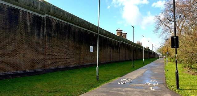 HM Prison Wormwood Scrubs...Outer Wall