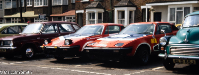 Rally Triumph TR7s August 1983