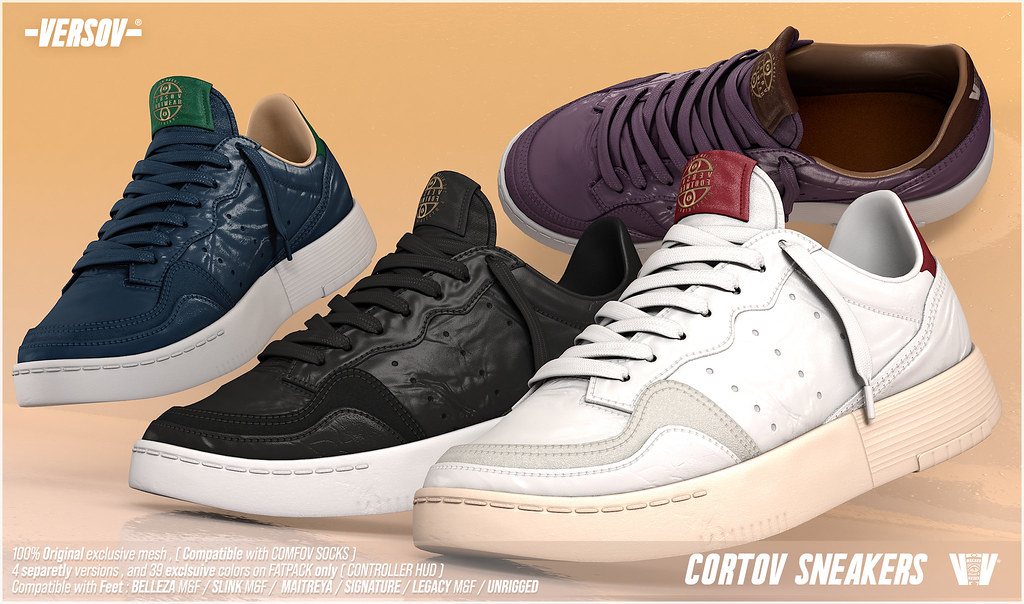 [ Versov // ] CORTOV UNISEX SNEAKERS available at Collabor88 + GIVE*AWAY