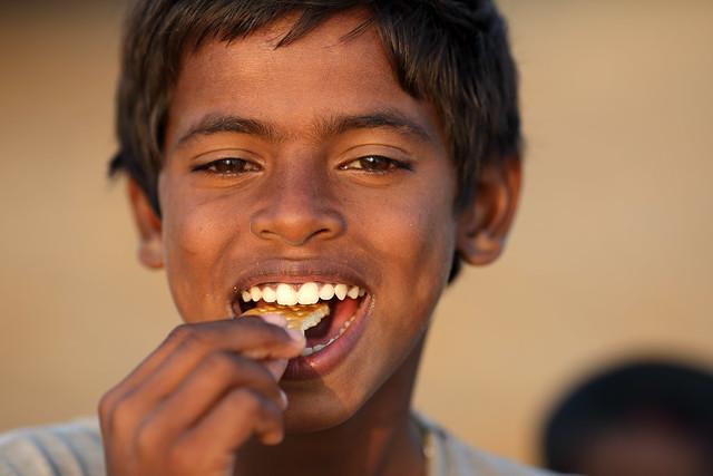 India, happy boy in Puri