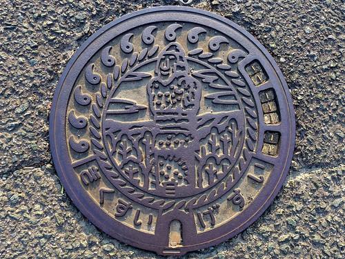 Kikusui Kumamoto, manhole cover 2 (熊本県菊水町のマンホール2)