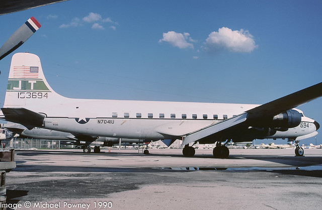 N7041U - 1955 build Douglas C-118A, aircraft crashed into the sea off Curacao in 1992