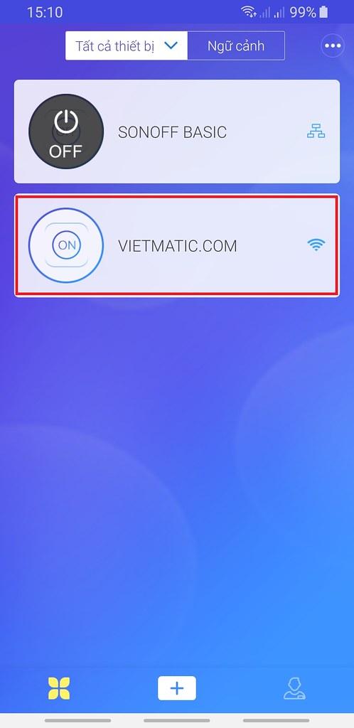 Trên điện thoại 2, đã có thêm thiết bị có tên VIETMATIC.COM vừa được chia sẻ
