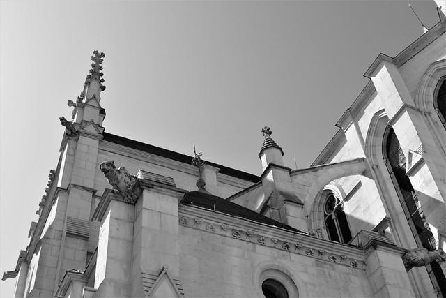 04.06.20.Néo-gothique avec ses arcs boutants, ses gargouilles, son plan à transept
