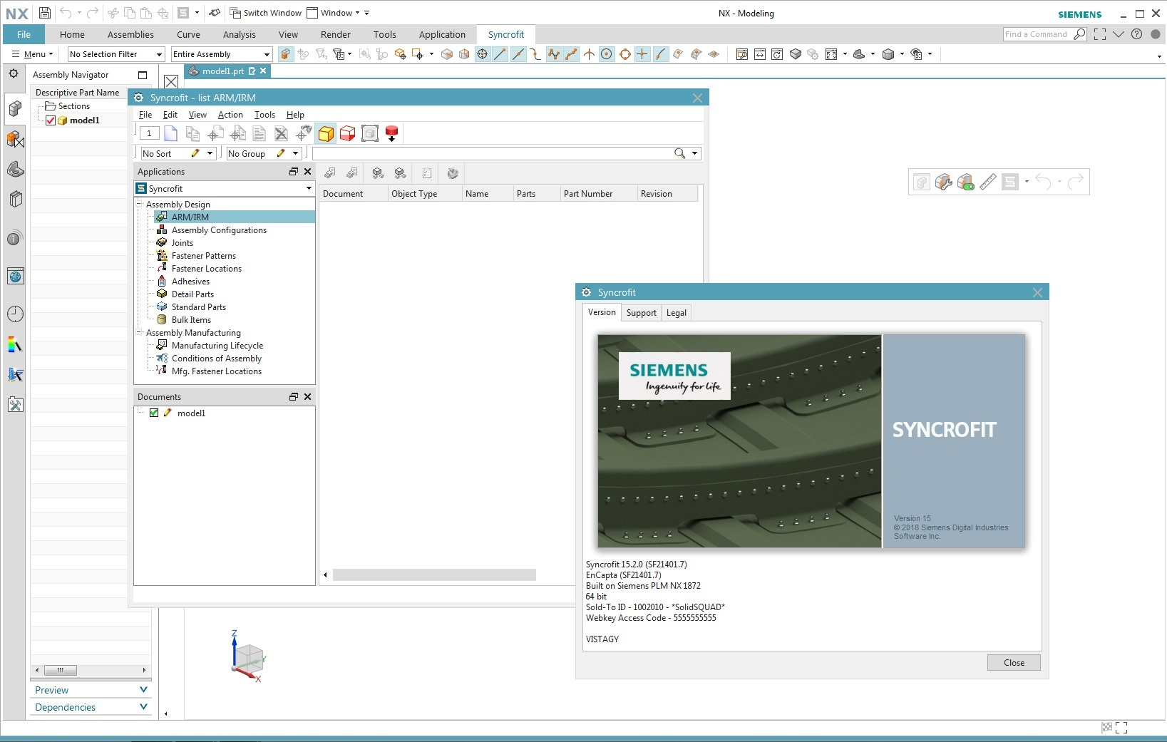 Working with Siemens Syncrofit 15.2.0 for NX