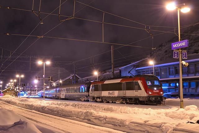 Modane / BB 36013 Thello Paris Gare de Lyon - Rome
