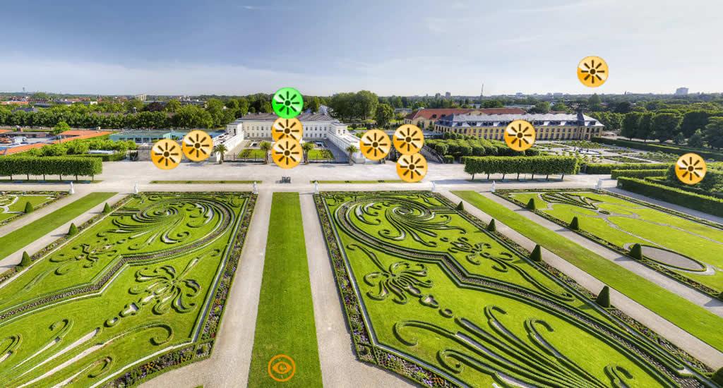 Virtuele citytrip Hannover, Schloss Herrenhausen (beeld via Hannover Living, HMTG) | Mooistestedentrips.nl