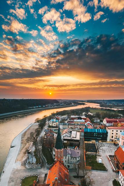 Kaunas old town | Lithuania aerial #98/365