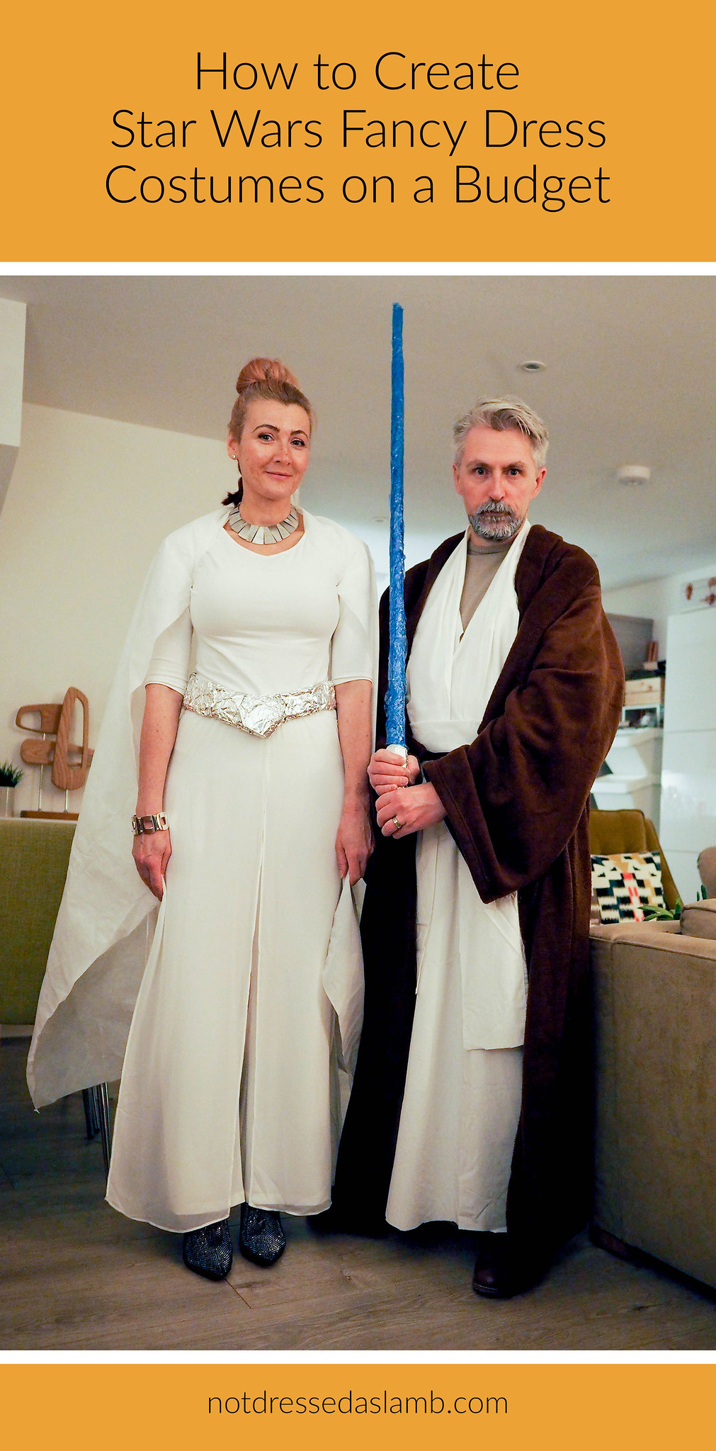 Star Wars Fancy Dress Party for Two (Costumes on a Budget): Princess Leia and Obi Wan Kenobi | Not Dressed As Lamb