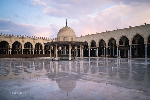 amribnalas mosque fountain courtyard wet rain reflection water sunset golden hour sky cairo city temple egyptian egypt architecture pietkagab photography piotrgaborek travel trip tourism sightseeing adventure sonya7