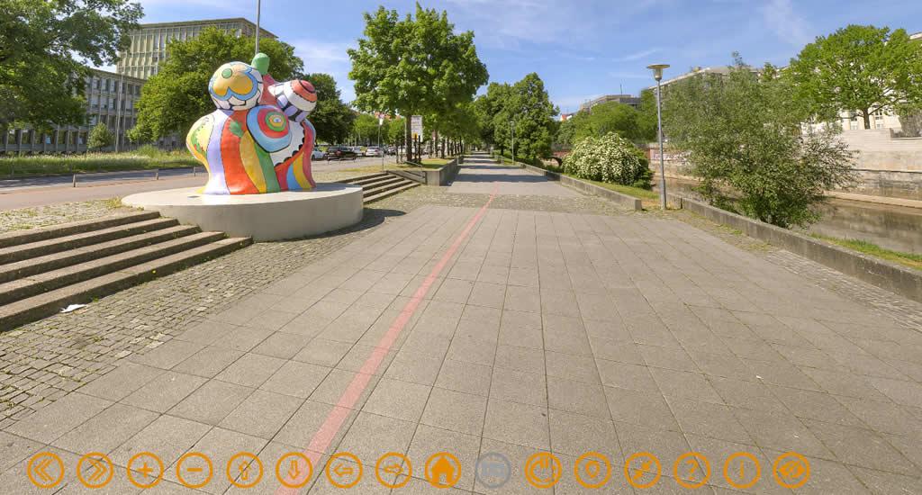 Virtuele citytrip Hannover, Nanas (beeld via Hannover Living, HMTG) | Mooistestedentrips.nl