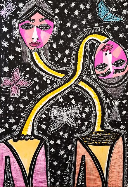 מפגשי אמנות לקבוצות מירית בן נון ציור מודרני עכשווי ישראלי