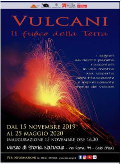 Vulcani temporanea al Museo di Calci