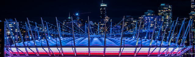 2020 - Vancouver - BC Place Stadium in COVID-19 Blue