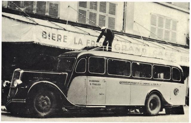 Postcard Berliet PS6 Diesel Carrosserie Besset Autocars D. Huillier Villard de Lans (38 Isère) 1937a