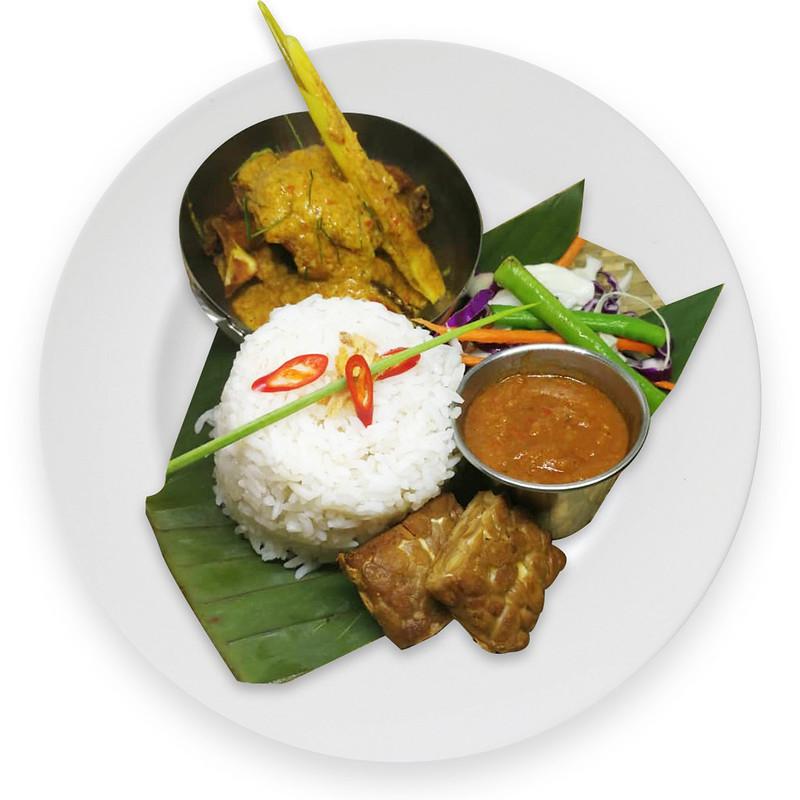 Chicken Percik Rice Set