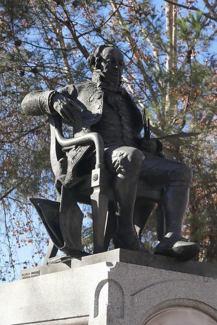 Statue de Franciso de Goya, glorieta de San Antonio, Moncloa-Aravaca, Madrid, Castille, Espagne.