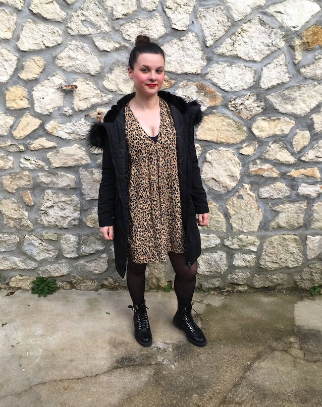 look-robe-leopard-coupe-babydoll-bottines-lacets-blog-mode-la-rochelle-2