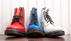 Dr Martens. 1460 Pascal, red. and white.and  blue.