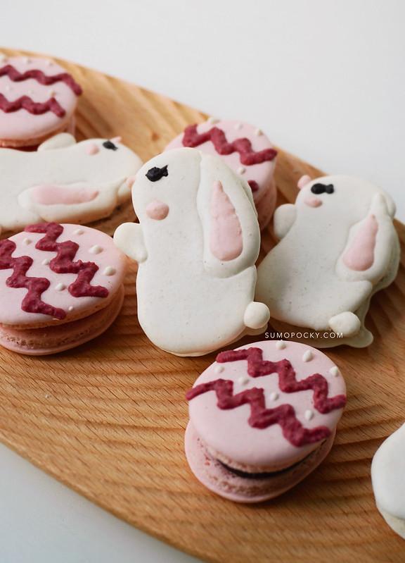 easter bunny easter egg macarons