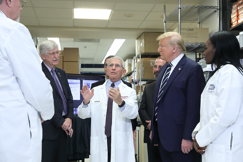 President Donald Trump Visits NIH