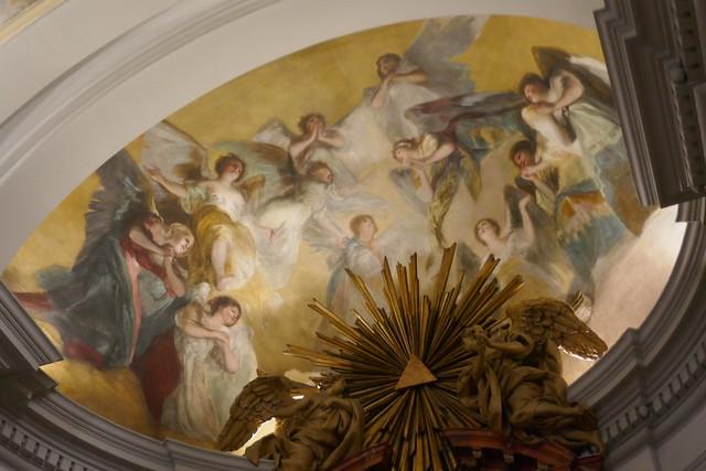 Fresques de Franciso de Goya 1798, ermitage San Antonio de la Florida, glorieta de San Antonio, Moncloa-Aravaca, Madrid, Castille, Espagne.